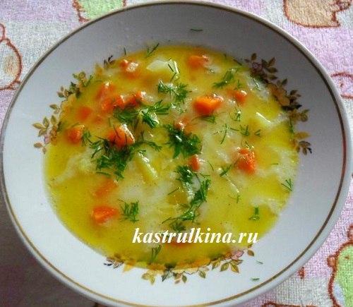 Готовим в микроволновке — суп молочный с рисом