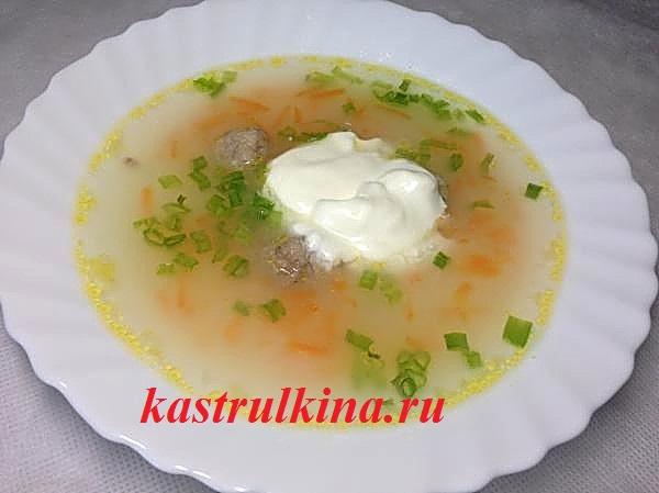 Рецепт супа с мясными фрикадельками