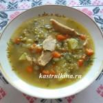 суп с машем на курином бульоне в микроволновке