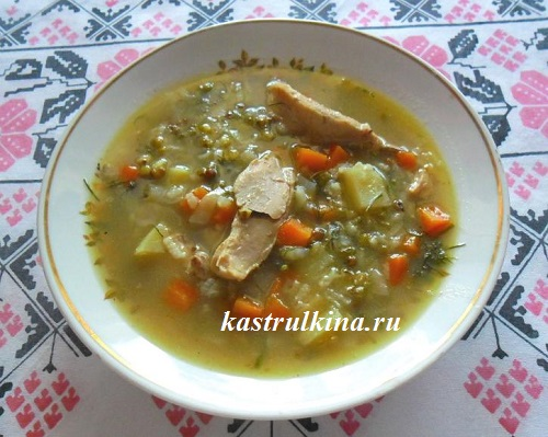 Готовим в микроволновке — суп с машем по-уйгурски