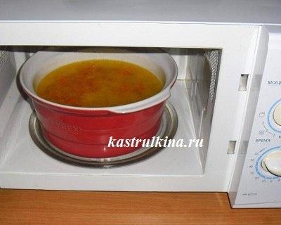 суп в микроволновке