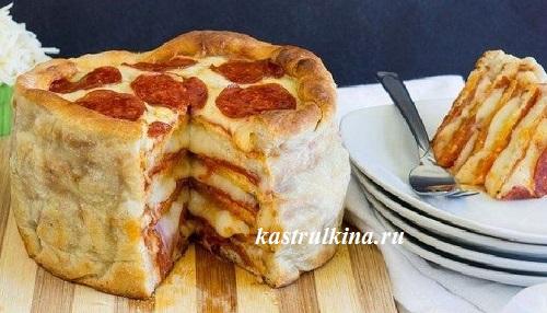 торт из пиццы