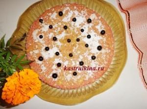торт из вафельных коржей со сгущенкой