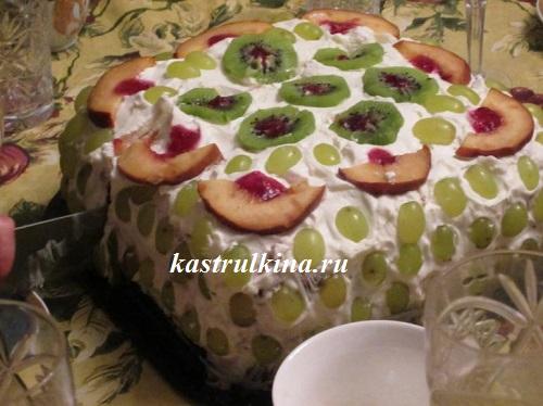Торт из зефира с фруктами от Лаймы Вайкуле