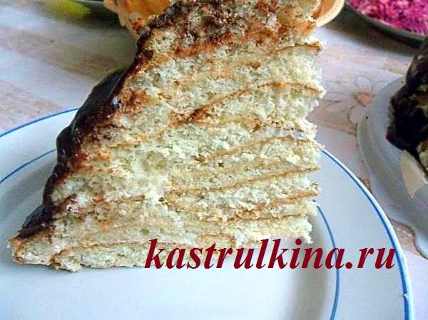 Печеночный торт рецепт тонкие блинчики