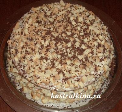 торт сметанник с кофе и ликером готов