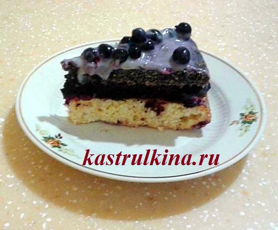 Торт-сметаник с маком и смородиной, рецепт