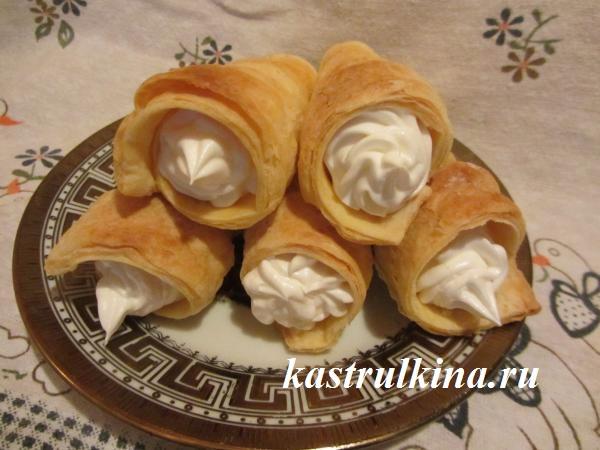 Трубочки с кремом рецепт с пошаговым фото