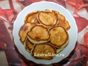 Рецепт вкусных творожных оладий