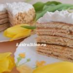 творожный торт с заварным кремом на сковороде