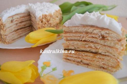 Обалденный творожный торт с заварным кремом на сковороде