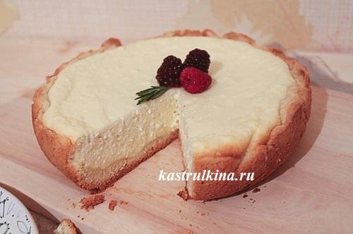 Творожный пирог по типу чизкейка в мультиварке