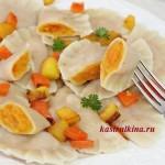 постные вареники с начинкой из тыквы и морковки