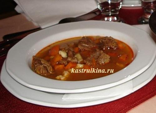 венгерский мясной суп из говядины