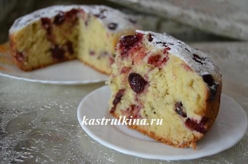 вишневый пирог из мультиварки