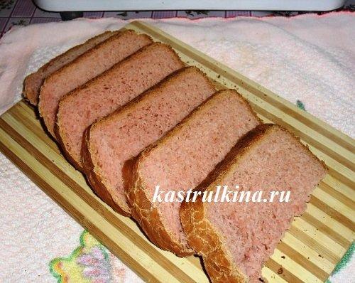 Вишневый хлеб к чаю из хлебопечки