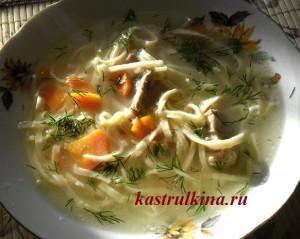 вкусный куриный суп с домашней лапшой фото