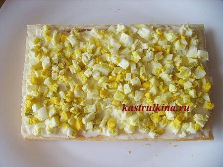 закусочный торт слой из яиц