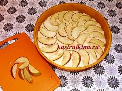 как приготовить заливной яблочный пирог фото 9