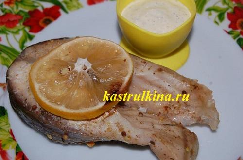 Запеченный амур с соусом карри