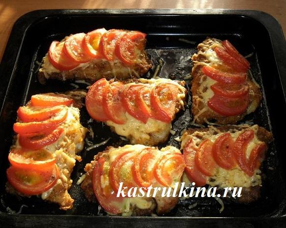 морской язык рецепты в духовке с помидорами