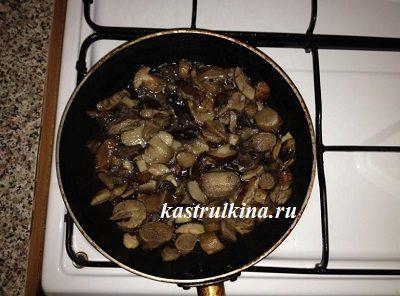 жареные грибы для начинки