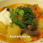 жаркое по-татарски из говядины