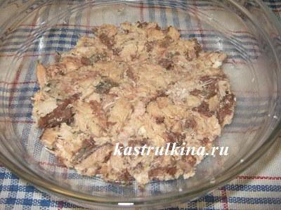Слоеный салат с сардиной - рецепт пошаговый с фото